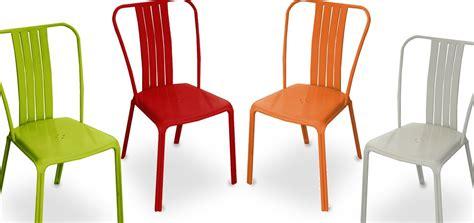 chaises jardin pas cher chaise de jardin azuro grise lot de 2 commandez nos