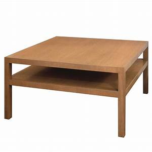 square coffee table in bleached walnut by th robsjohn With square coffee tables for sale