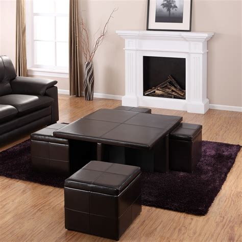 black leather ottoman coffee table square black leather coffee table with ottomans and purple