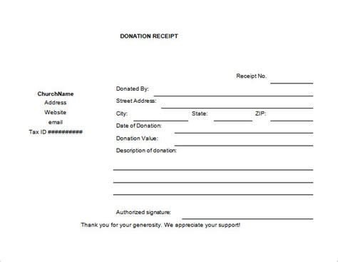 donation receipt template 18 donation receipt templates doc pdf free premium templates