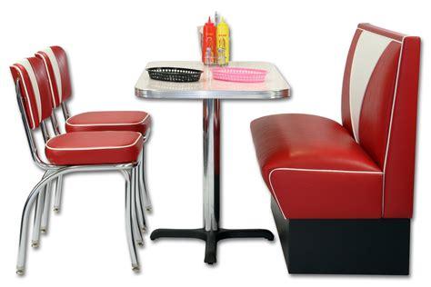 coin repas banquette et chaises vintage deco americaine