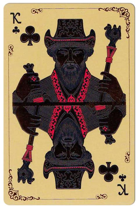 It corresponds to the suit of acorns in a german deck. King of clubs Silk Road cards from Kazakhstan | Playing cards art, Playing cards design, Cards