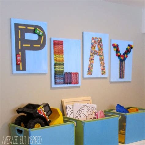 playroom mural ideas creative quot play quot art for the playroom canvas wall decor playrooms and kids s