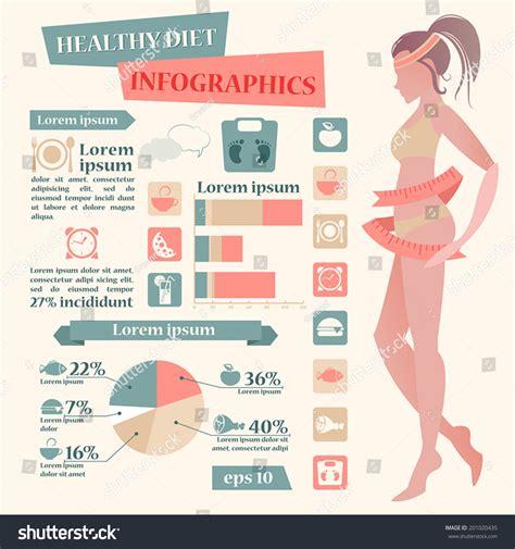 diet by design healthy diet vantage vector infographics your stock vector