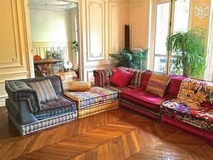canape mah jong roche bobois tissu missoni ameublement With tapis de sol avec canapé d angle roche bobois soldes