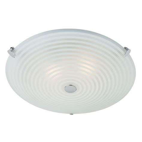 endon 633 32 modern glass 2 light flush ceiling fitting
