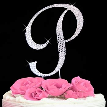 initial p cake topper letter p fully covered