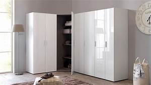 Eckschrank Hochglanz Weiß : kleiderschrank eckschrank schrankwand malta hochglanz wei ~ Markanthonyermac.com Haus und Dekorationen