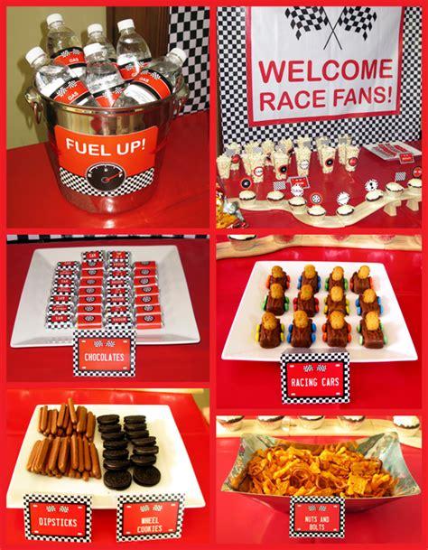 cuisine cing car race car sam 39 s 4th birthday