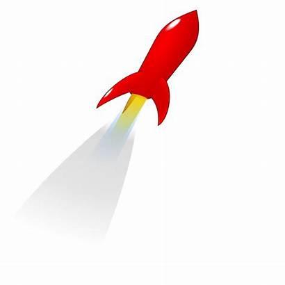 Rocket Vector Launch Clipart Clip Launching Cartoon