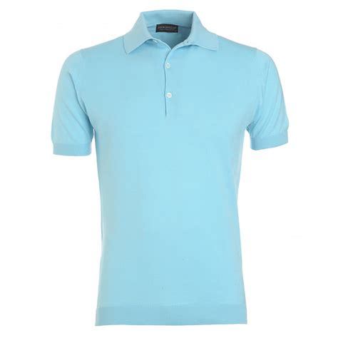 light blue polo shirt womens john smedley light blue slim fit 39 adrian 39 polo shirt