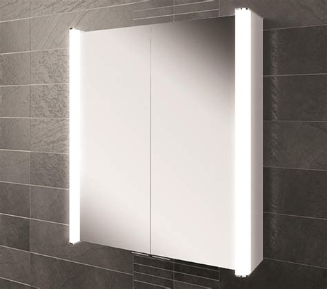 hib vita  double door led illuminated mirror cabinet