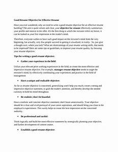 General Resume Objectives How To Create An Impressive Resume