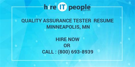 quality assurance tester resume minneapolis mn hire