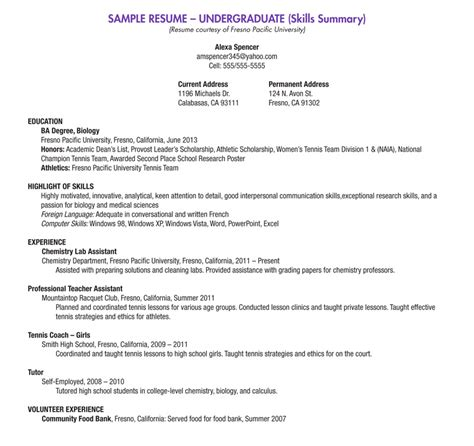 jethwear resume exles and sles for students how to