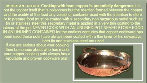eating chilean chilean copper cookware