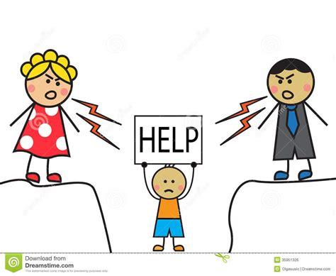 Parents Abused Child Stock Illustration. Illustration Of