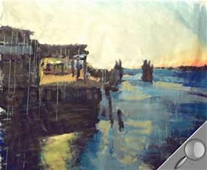 peindre a lacrylique aube portuaire l39atelier canson With peindre l eau a l acrylique