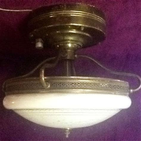 retro kitchen lighting vintage retro early florescent brass from antiquelights on 1940