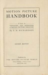 Motion Picture Handbook  A Guide For Managers And