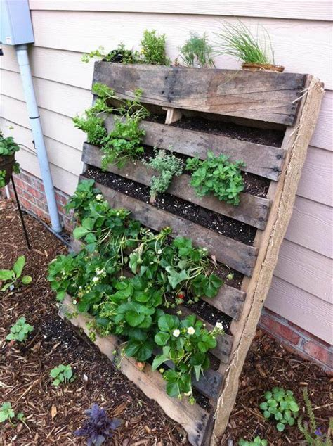 Vertical Gardening Diy by Recycled Pallet Vertical Garden