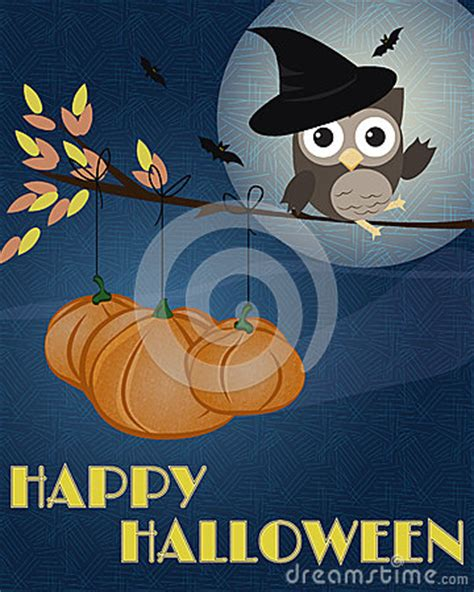 owl happy halloween royalty  stock images image