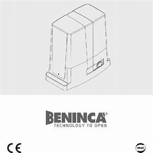 Beninca Bull 10m Gate Opener Manual Pdf View  Download