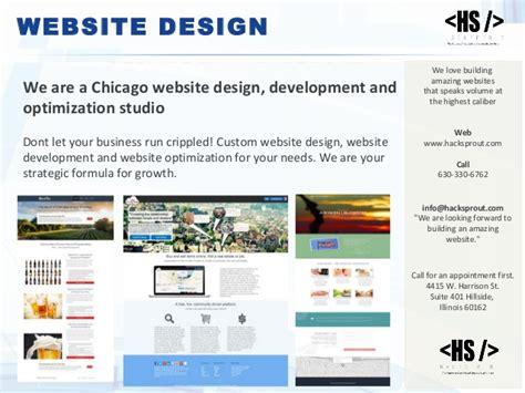 web design chicago website design service by hacksprout chicago