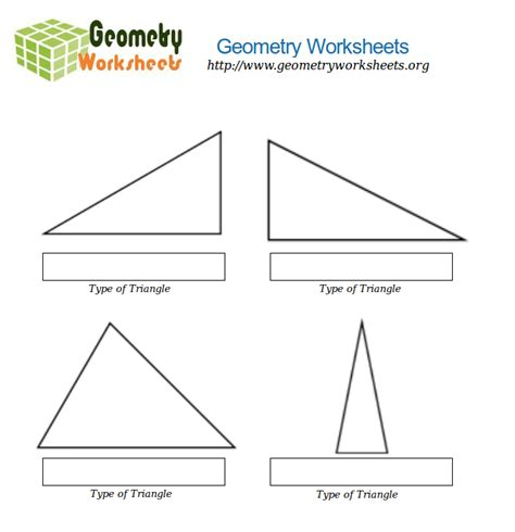 geometry worksheets for types of triangles 3 geometry