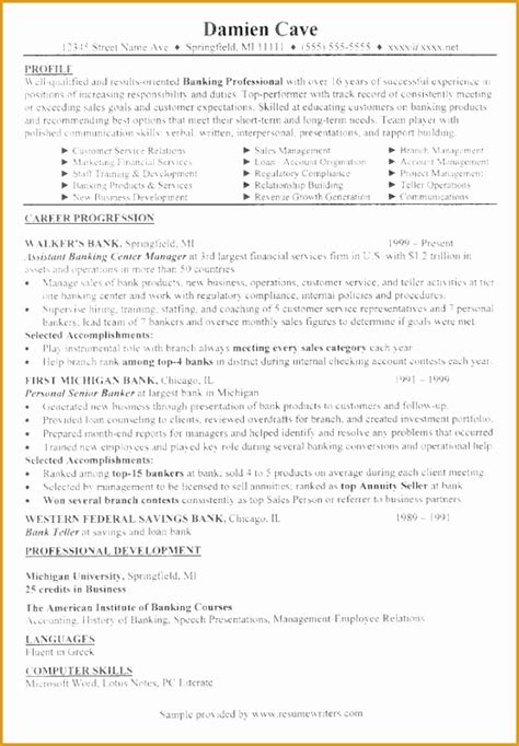 6 banking executive manager resume template free sles