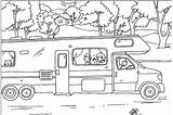 Coloring Camper Pages Summer Rv Trailer Travel Camping Colouring Sheets Fun Sheet Adult Nestofposies Wheel Fifth Pool Clip Para Kinder sketch template