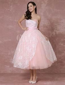 blush wedding dress short lace bridal gown pink ball gown With short ball gown wedding dresses