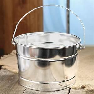 Galvanized, Metal, Paint, Bucket, -, Baskets, Buckets, U0026, Boxes