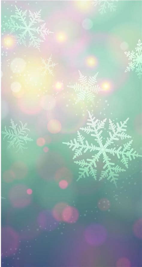 snowflake iphone wallpaper snowflakes cell phone backgrounds pastel