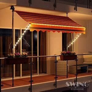 Markise Balkon Deckenmontage : led markise mit kurbel klemmmarkise balkonmarkise sonnenschutz terrasse balkon ebay ~ A.2002-acura-tl-radio.info Haus und Dekorationen