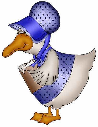 Goose Mother Clip Nursery Clipart Rhymes Rhyme
