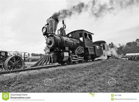 Locomotive Ancienne De Train De Vapeur De Cru Photo Stock