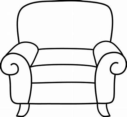 Armchair Coloring Clip Sweetclipart