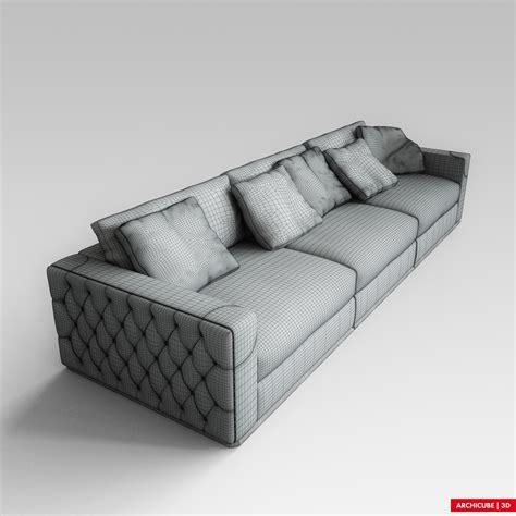 fendi sofa  model max obj fbx cgtradercom