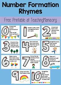 Number Formation Rhymes | Teaching Kindergarten ...