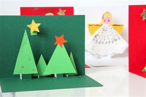 weihnachtskarten basteln 3d weihnachtsgeschenke selber machen diy
