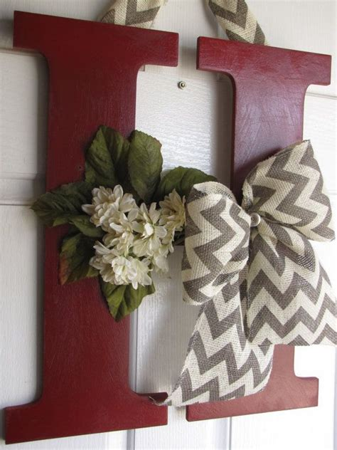 decorative letter decor  madewithloveforubyme  etsy  home pinterest style