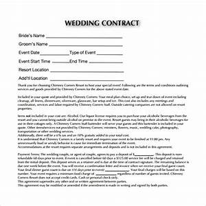Party Planner Contract Sample Free 23 Wedding Contract Templates In Google Docs Ms