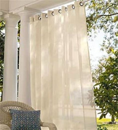 outdoor curtains deck and patio ideas