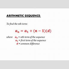 Arithmetic Sequence  Igcse At Mathematics Realm