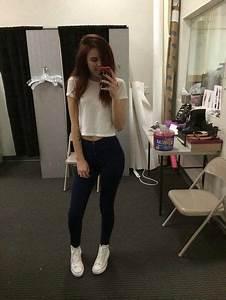 Tank top black pants white crop tops white converse black ... | black jeans outfits ...