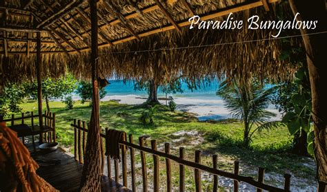 Paradise Bungalows On Koh Rong Island In Cambodia