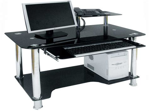 office furniture computer desk office computer tables black glass computer desk black
