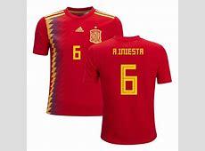 La Nueva Camiseta de Iniesta España 2018 ENVIO GRATISDHL