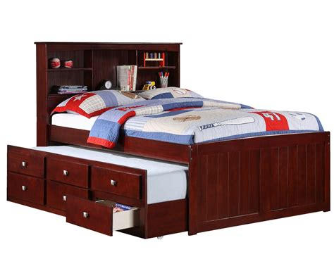 size captains bed with trundle size captains bed with trundle by donco trading at